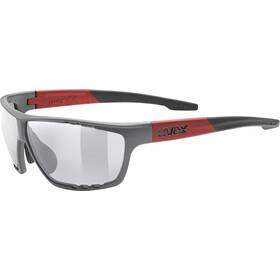 UVEX Sportstyle 706 Glasses grey/red matt/mirror silver